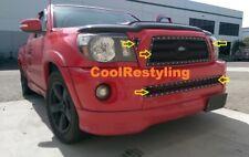 Fit Toyota Tacoma 05-10 Black Mesh Rivet Grille BoltOn Combo 3pc Top+1pc Bumper