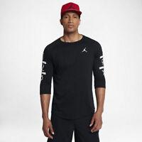 Nike Men's sz 3XL Men's Jordan 6 Times Raglan 3/4-Sleeve Shirt 862423 010 Black