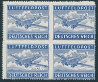Stamp Germany Feldpost Mi 1 Block 1942 WW2 Reich Wehrmacht War Airplane MNH