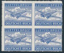 Stamp Germany Feldpost Mi 1 Block 1942 WW2 Reich Wehrmacht War Airplane MNH