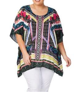 Plus Size Beme Viscose Tropical Print Kaftan-Tunic Size 16-18-20 Or S/M one size