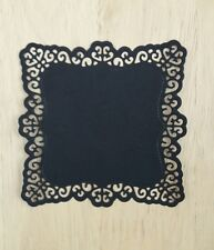 Die Cut Card Toppers Black Square Doily Frame Card Making Scrapbooking