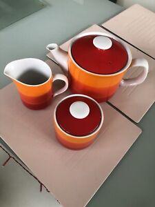vintage retro teapot, Sugar Bowl And Milk Jug