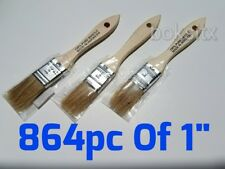 """864 Pc of 1"""" Chip Brush Natural Bristle Adhesives Paint Touchups 1 Inch"""