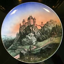 Antique Villeroy&Boch Wallerfangen Polychrome  plate