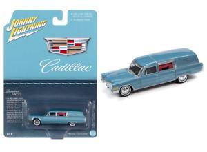 Johnny Lightning Cadillac Hearse Blue 1966 JLSP114 1/64