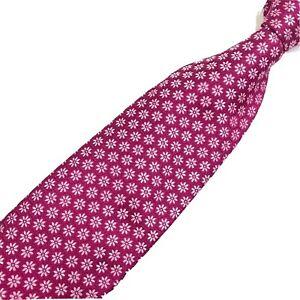 IKE BEHAR Macclesfield Tie Floral Fuschia 100% Silk Made in USA