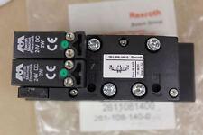 Rexroth 261-108-140-0 Double Solenoid 5/3 Valve 2611081400 Aventics  New Surplus