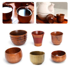 Small Handmade Natural Solid Wood Tea Cup Wooden Wine Coffee Water Mug Drinking