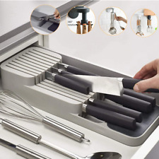 New Knives Spoons Separate Storage Holder Box Drawer ox Universal Tray Organizer