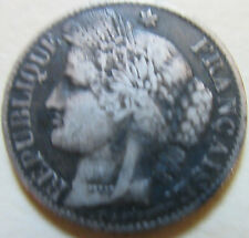 1888 France SILVER 50 CENT Coin. BETTER GRADE (W180)