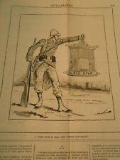 Caricature 1884 - Nous avons la cage mais l'oiseau s'est envolé Bag Ninh