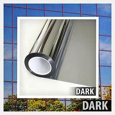 One Way Mirror Window Film Tint Reflection 24 inch X 14 ft Silver 15 Extra Dark