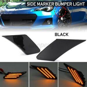 LED Side Amber Marker Bumper Light Lamp For Toyota 86 Subaru BRZ Scion FR-S