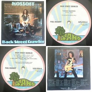 PAUL KOSSOFF Back Street Crawler LP Island (Pink Rim) EX/VG A1/B1 FREE 1973
