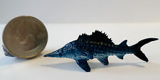 "1 Pc BLUE WAHOO FISH Plastic Figurine Diorama 2"" long Oceanic Life Aquarium Tank"