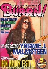 Burrn! Heavy Metal Magazine 2004 Japan Yngwie Malmsteen Iron Maiden