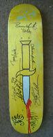 THRASHIN MOVIE Signed Skateboard Deck Tony Hawk Natas Daggers Bones Brigade