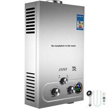 18L 5GPM Hot Water Heater Propane Gas LPG Instant Tankless Boiler w/ Shower Kit