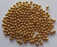 200pz  perline in metallo spacer separatori  4mm colore oro bijoux