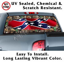 CAMO & CF BACK Window Graphic Perforated Film Decal Truck SUV