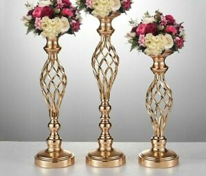 Hollow Out Design Candles Stand Holder Home And Wedding Event Table Center Decor