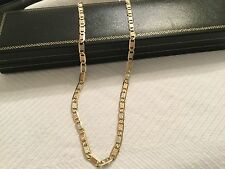 "Solid 14K Yellow/Rose/White Gold Anchor Mariner Chain Necklace 20"" Unisex 8.5 g"