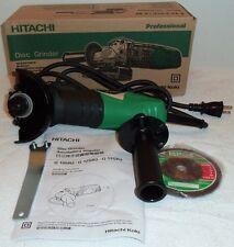 "New Hitachi 4"" Angle Disc Grinder 10,000Rpm 110V w/ Wrench and Disc Nib G10Sr3"
