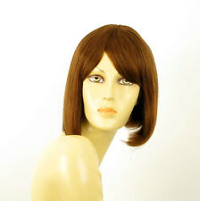 perruque femme 100% cheveux naturel châtain clair cuivré ref CAMILLE 30