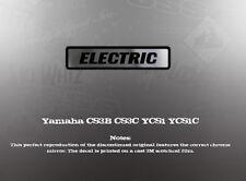 YAMAHA CS3B CS3C YCS1 YCS1C ELECTRIC DECAL GRAPHIC