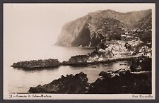 Postcard Madeira Portugal view of Camara de Lobos old RP by Foto Perestrellos