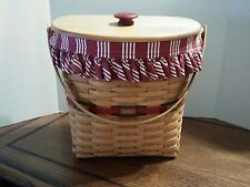 1998 Longaberger Winter Wishes Basket Combo, Red MINT COND
