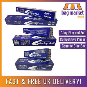 Blue Box™ Cling Film and Catering Foil   Wrap/Tin/Food/Stretch/Shrink/Kitchen