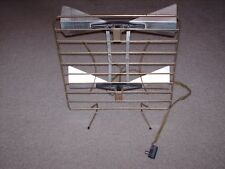 Vintage Double Bow Tie Set Top TV Antenna Stand  Gold and Silver