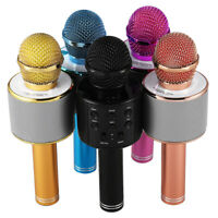 Microfono de karaoke inalambrico Mini KTV en casa Bluetooth portatil para t U2N8