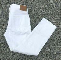 NWT American Eagle Men's Flex Slim Straight Jeans White 36 x 32 (5169)