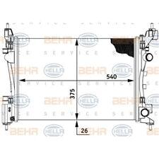 ORIGINAL HELLA Kühler Motorkühlung Opel Corsa Bj.06-RGT 8MK376728-791