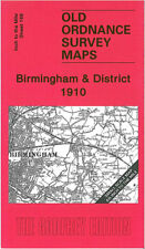 OLD ORDNANCE SURVEY MAP BIRMINGHAM, HALESOWEN, SOLIHULL, OLTON & DISTRICT 1910
