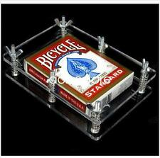 Crystal Card Press Flatten device Card Magic Accessory Playing Cards Protector