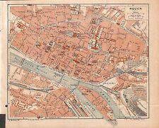 """ROUEN """" PLAN DE LA VILLE / TOWN MAP """" 1921"""