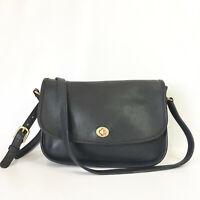 Vintage Coach City Bag Black Leather Shoulder Crossbody Purse Handbag USA