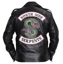 Riverdale Southside Serpents jughead jones Cole Sprouse Men Leather Biker Jacket
