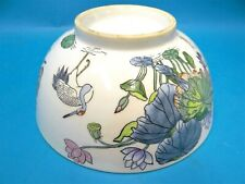 Vintage Used Stamped A2 Porcelain Lily Pad Crane Asian Serving Bowl Decorative