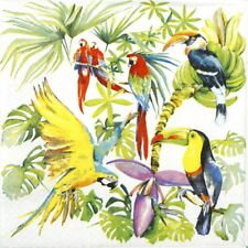 4x Paper Napkins for Decoupage Decopatch Craft Birds of Paradise