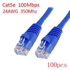 Lot 100pcs 3Ft Cat5e RJ45 24AWG 350Mhz 100Mbps LAN Ethernet Network Patch Cable