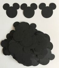 100 X Craft Paper Disney Mickey Mouse Heads, Scrapbook Cardmaking Tablescatter