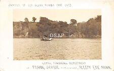 C79/ Sleepy Eye Minnesota c10 RPPC Postcard Maker Printer Advertising Kodak Boat