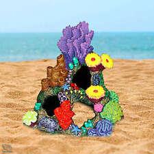 Indonesian Reef Cave Aquarium Ornament Coral With Plants Fish Tank Decoration