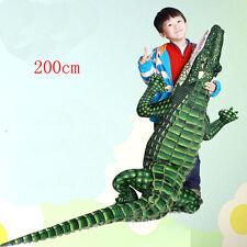 "79"" huge Large Big emulational Crocodile Plush&soft toy Stuffed Animal gift"