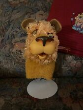 1965 Larry the Lion Puppet Pull String Talker By Mattel Restored To Talk/Cleaned